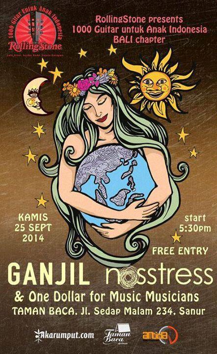 Penyerahan donasi gitar akustik dari Rolling Stone Indonesia kepada organisasi anak dan difable di Bali