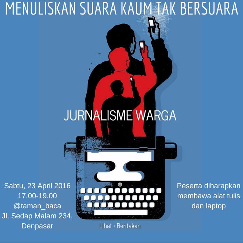 Belajar Jurnalisme Warga bersama Anton Muhajir