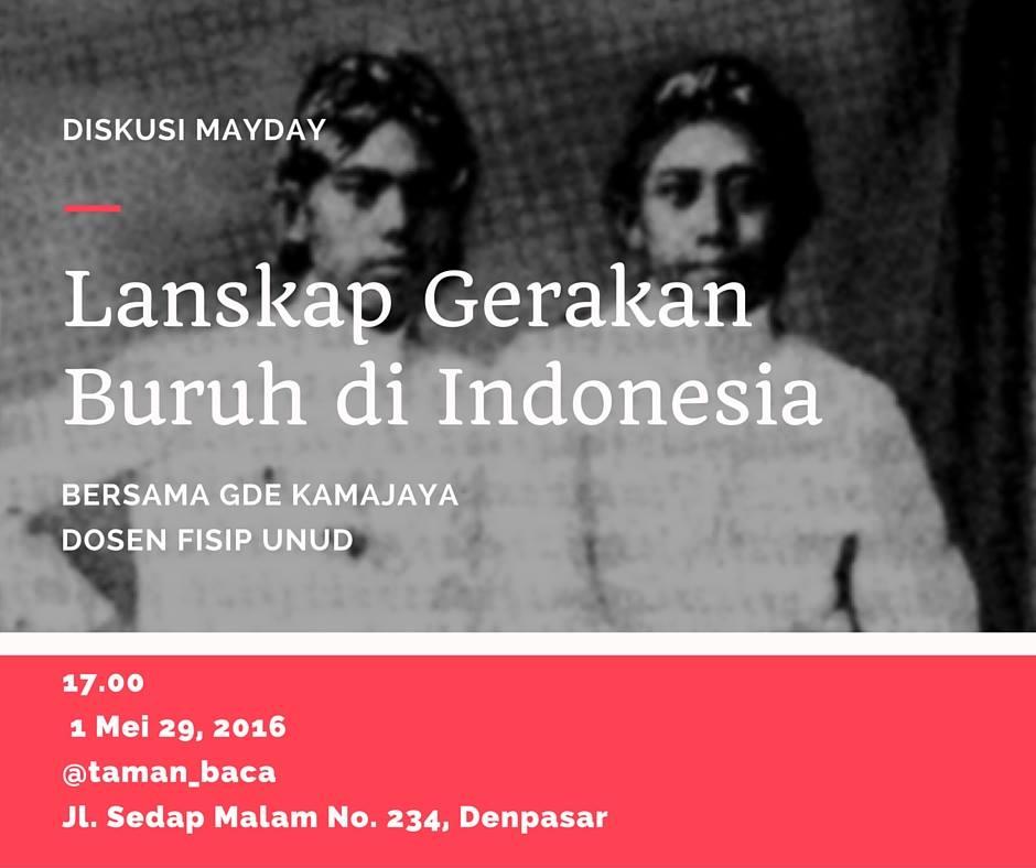 Diskusi Hari Buruh Sedunia, 1 Mei 2016
