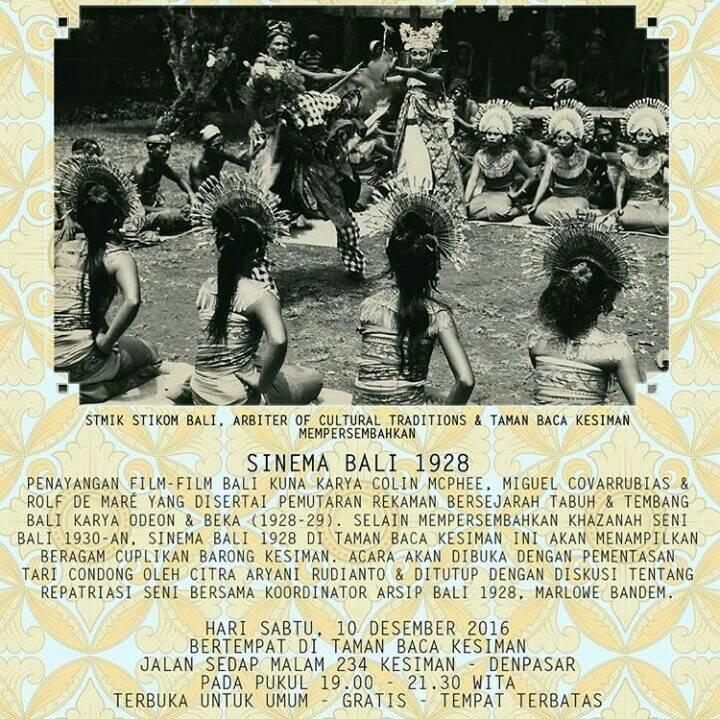 SINEMA BALI 1928