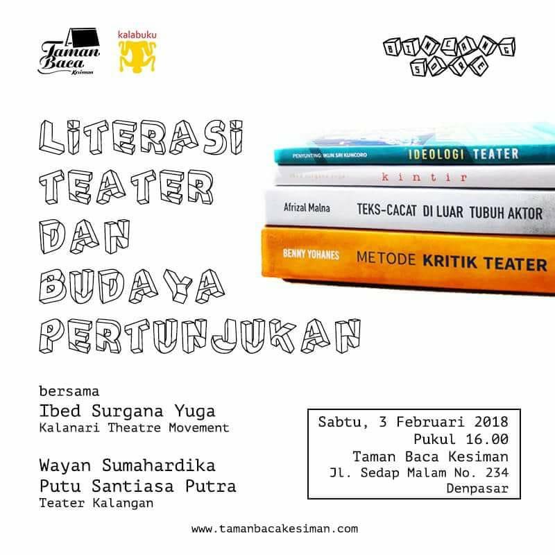 """Bincang Sore """"Literasi Teater dan Budaya Pertunjukan""""."""